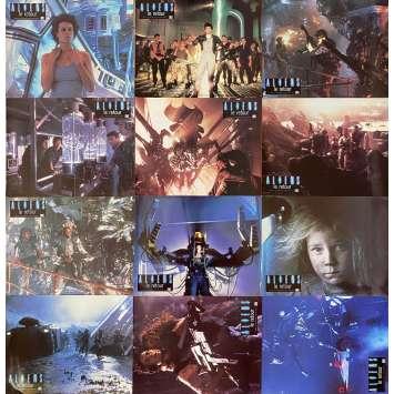 ALIENS Original Lobby Cards x12 - 9x12 in. - 1986 - James Cameron, Sigourney Weaver