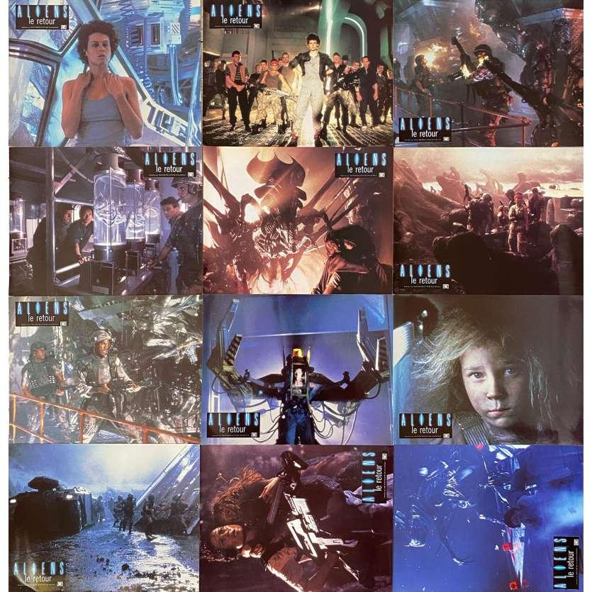 ALIENS Photos de film x12 - 21x30 cm. - 1986 - Sigourney Weaver, James Cameron