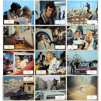 THE BURGLARS Original Lobby Cards x12 - 9x12 in. - 1971 - Henri Verneuil, Jean-Paul Belmondo