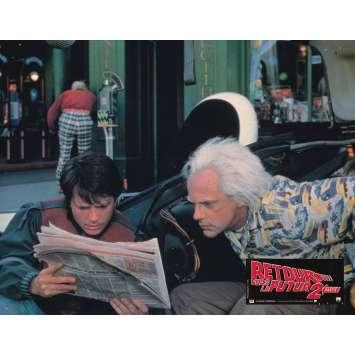 BACK TO THE FUTURE II Original Lobby Card N05 - 9x12 in. - 1989 - Robert Zemeckis, Michael J. Fox