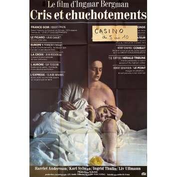 CRIS ET CHUCHOTEMENTS Affiche de film- 80x120 cm. - 1972 - Liv Ullmann, Ingmar Bergman
