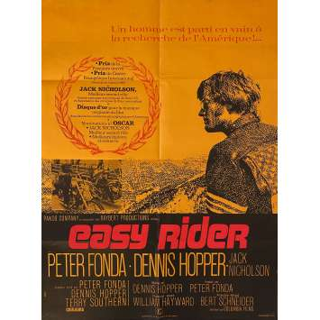 EASY RIDER Affiche de film- 60x80 cm. - 1969 - Peter Fonda, Dennis Hopper