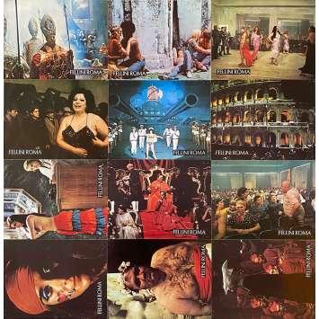 ROMA Original Lobby Cards x12 - Set B - 9x12 in. - 1972 - Federico Fellini, Britta Barnes