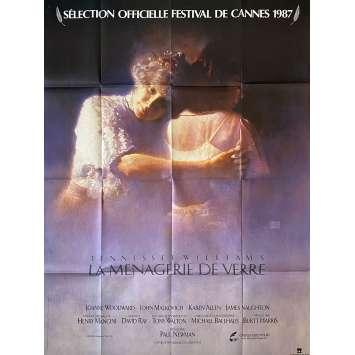 LA MENAGERIE DE VERRE Affiche de film- 120x160 cm. - 1987 - Joanne Woodward, Paul Newman