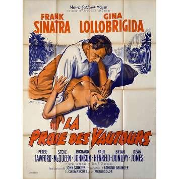 NEVER SO FEW Original Movie Poster- 47x63 in. - 1959 - John Sturges, Frank Sinatra, Gina Lollobrigida