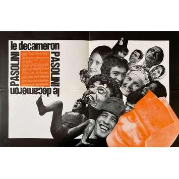 LE DECAMERON Synopsis- 21x30 cm. - 1971 - Franco Citti, Pier Paolo Pasolini