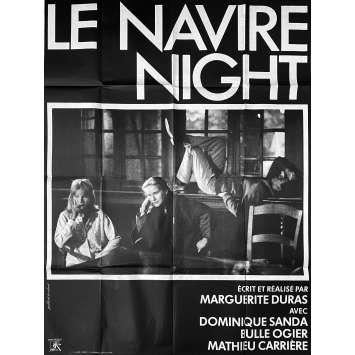 LE NAVIRE NIGHT Affiche de film- 120x160 cm. - 1979 - Dominique Sanda, Bulle Ogier, Marguerite Duras