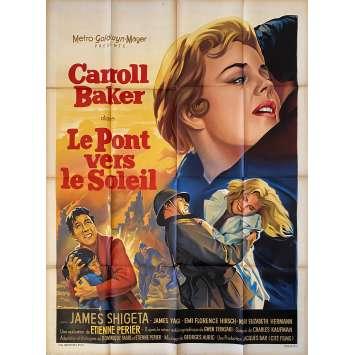 LE PONT VERS LE SOLEIL Affiche de film- 120x160 cm. - 1961 - Carroll Baker, Etienne Périer