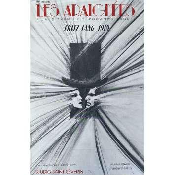 LES ARAIGNEES Affiche de film- 40x60 cm. - R1970 - Carl de Vogt, Fritz Lang