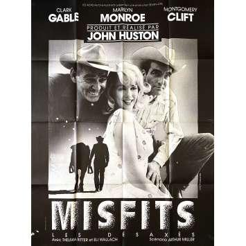 THE MISFISTS Original Movie Poster- 47x63 in. - R1970 - John Huston, Marilyn Monroe