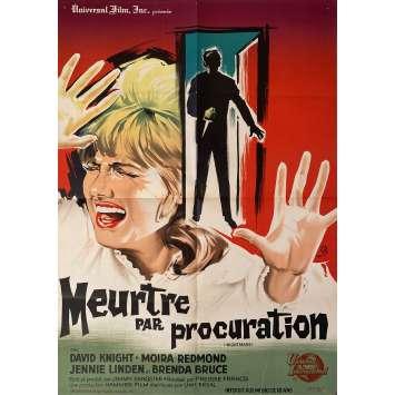 MEURTRE PAR PROCURATION Affiche de film- 60x80 cm. - 1964 - David Knight, Moira Redmond, Freddie Francis