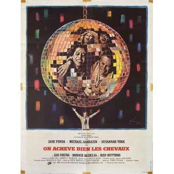 ON ACHEVE BIEN LES CHEVAUX Affiche de film- 60x80 cm. - 1969 - Jane Fonda, Sydney Pollack