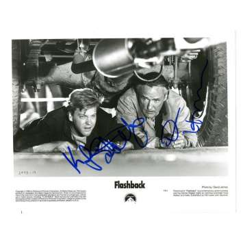 "KIEFER SUTHERLAND/DENNIS HOPPER Photo Signée ! 24h, flashback 20x25cm - USA ""90's Signed Still"