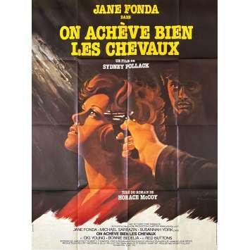 ON ACHEVE BIEN LES CHEVAUX Affiche de film- 120x160 cm. - 1969 - Jane Fonda, Sydney Pollack