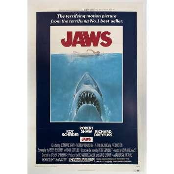 JAWS Original Linenbacked 1sh Movie Poster - 1975 - Spielberg One sheet