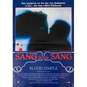 BLOOD SIMPLE Original Movie Poster- 15x21 in. - 1984 - Joel Coen, Frances McDormand