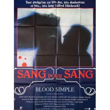 BLOOD SIMPLE Original Movie Poster- 47x63 in. - 1984 - Joel Coen, Frances McDormand