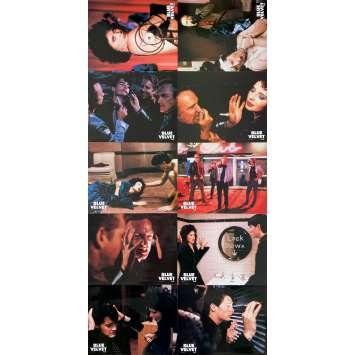 BLUE VELVET Original Lobby Cards x10 - 9x12 in. - 1986 - David Lynch, Isabella Rosselini