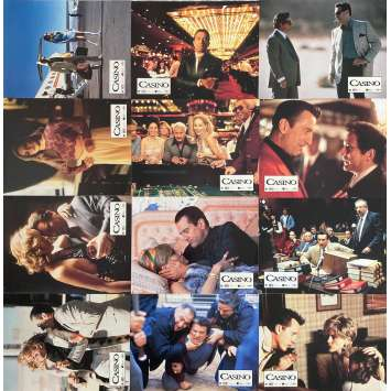 CASINO Original Lobby Cards x12 - 9x12 in. - 1995 - Martin Scorsese, Robert de Niro