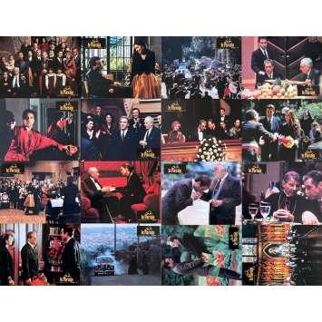THE GODFATHER III Original Lobby Cards x16 - 9x12 in. - 1990 - Francis Ford Coppola, Al Pacino