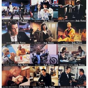 PULP FICTION Original Lobby Cards x12 - 9x12 in. - 1994 - Quentin Tarantino, Uma Thurman