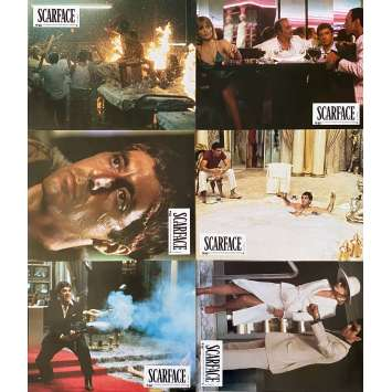 SCARFACE Original Lobby Cards x6 - Set B - 9x12 in. - 1983 - Brian de Palma, Al Pacino