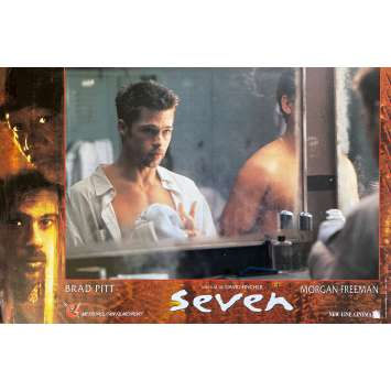SEVEN Original Lobby Card N01 - 10x12 in. - 1995 - David Fincher, Brad Pitt