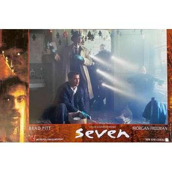 SEVEN Original Lobby Card N02 - 10x12 in. - 1995 - David Fincher, Brad Pitt