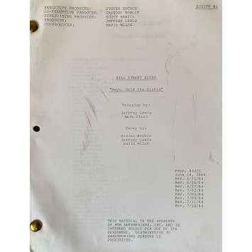 CAPITAINE FURILLO Scénario - S05E01, 57p - 20x25 cm. - 1981 - Daniel J. Travanti, Steven Bochco