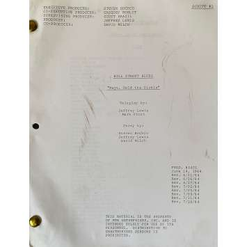 HILL STREET BLUES Movie Script S05E01, 57p - 8x10 in. - 1981 - Steven Bochco, Daniel J. Travanti