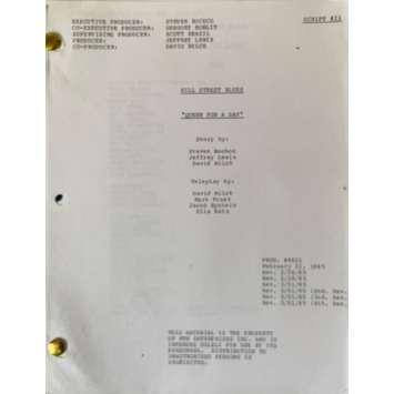HILL STREET BLUES Movie Script S05E21, 59p - 8x10 in. - 1981 - Steven Bochco, Daniel J. Travanti