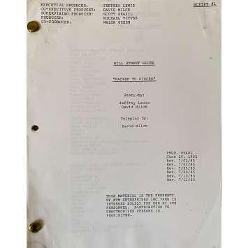 CAPITAINE FURILLO Scénario - S06E02, 53p - 20x25 cm. - 1981 - Daniel J. Travanti, Steven Bochco
