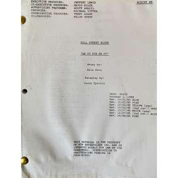 CAPITAINE FURILLO Scénario - S06E07, 62p - 20x25 cm. - 1981 - Daniel J. Travanti, Steven Bochco