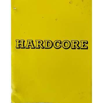 HARDCORE Original Movie Script 108p - 8x10 in. - 1979 - Paul Schrader, George C. Scott