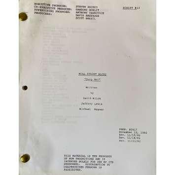 CAPITAINE FURILLO Scénario - S03E13, 57p - 20x25 cm. - 1981 - Daniel J. Travanti, Steven Bochco