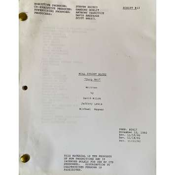 HILL STREET BLUES Movie Script S03E13, 57p - 8x10 in. - 1981 - Steven Bochco, Daniel J. Travanti