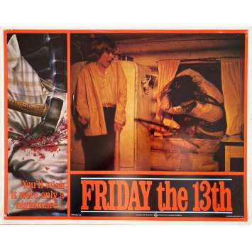 VENDREDI 13 Photo de film Intl - 4 - 28x36 cm. - 1980 - Kevin Bacon, Sean S. Cunningham, Jason