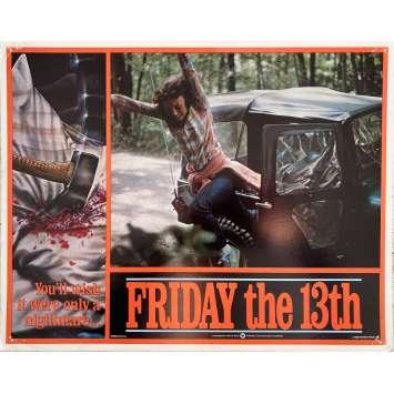 VENDREDI 13 Photo de film Intl - 6 - 28x36 cm. - 1980 - Kevin Bacon, Sean S. Cunningham, Jason