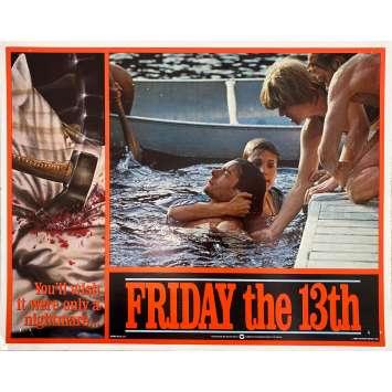 VENDREDI 13 Photo de film Intl - 7 - 28x36 cm. - 1980 - Kevin Bacon, Sean S. Cunningham, Jason