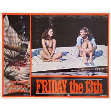 VENDREDI 13 Photo de film Intl - 8 - 28x36 cm. - 1980 - Kevin Bacon, Sean S. Cunningham, Jason