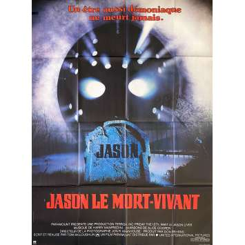 Friday THE 13TH PART VII JASON LIVES Movie Poster47x63 in. French - 1986 - Tom McLoughlin, Tom Mathews