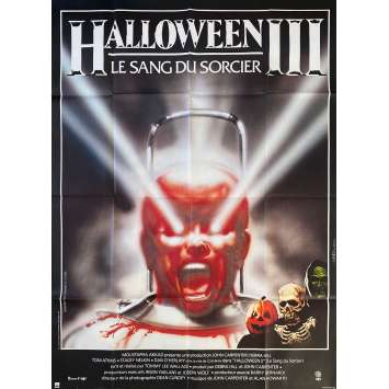 HALLOWEEN III SEASON OF THE WITCH French Movie Poster47x63 - 1982 - Tommy Lee Wallace, Tom Atkins