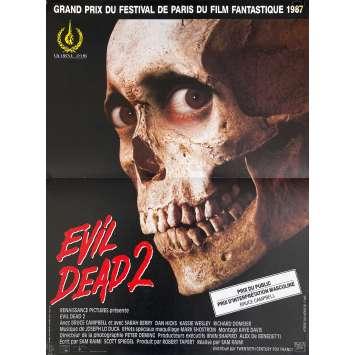 EVIL DEAD 2 Original Movie Poster- 15x21 in. - 1987 - Sam Raimi, Bruce Campbell
