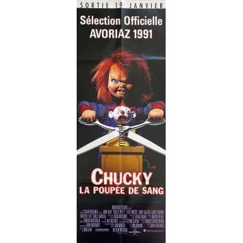 CHILD'S PLAY 2 Original Movie Poster- 23x63 in. - 1990 - John Lafia, Alex Vincent
