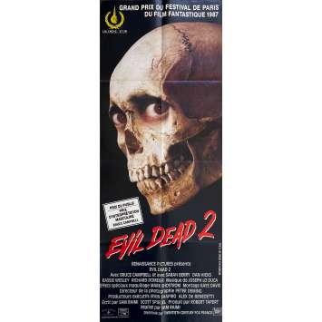EVIL DEAD 2 Original Movie Poster- 23x63 in. - 1987 - Sam Raimi, Bruce Campbell
