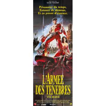 EVIL DEAD III ARMY OF DARKNESS Original Movie Poster 2 Panels - 59x138 in. - 1992 - Sam Raimi, Bruce Campbell