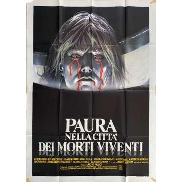 THE CITY OF THE LIVING DEAD Original Movie Poster- 39x55 in. - 1980 - Lucio Fulci, Catriona MacColl