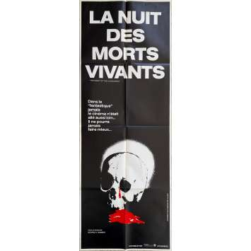 NIGHT OF THE LIVING DEAD Original Movie Poster- 23x63 in. - R1990 - George A. Romero, Duane Jones