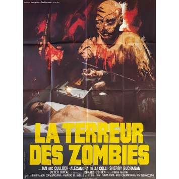 LA TERREUR DES ZOMBIES Affiche de film- 120x160 cm. - 1980 - Ian McCulloch, Marino Girolami