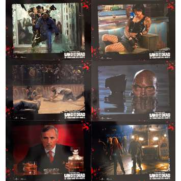 LAND OF THE DEAD Original Lobby Cards x6 - 9x12 in. - 2005 - George A. Romero, Asia Argento